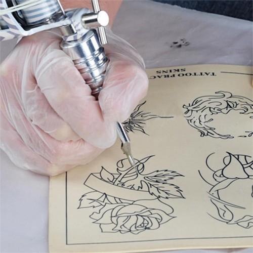 20 см. х 15 см. Кожа для тренировки искусственная для набивания тату для татуажа с рисунком