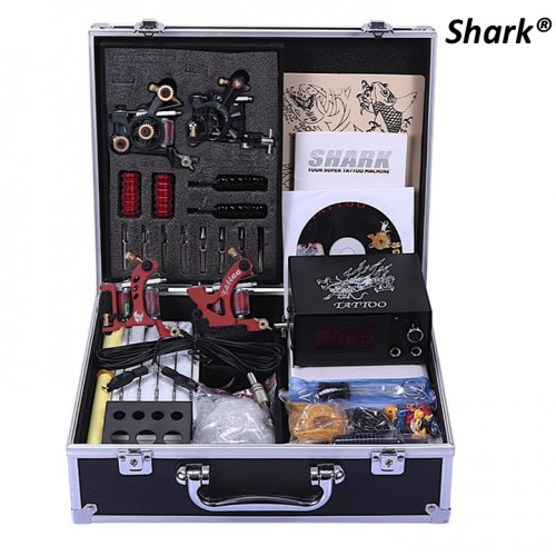 Shark Тату машинки 4 шт. в наборе с полной комплектацией в кейсе