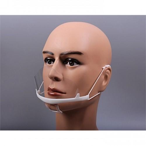 Маска на рот для лица пластиковая прозрачная косметологическая