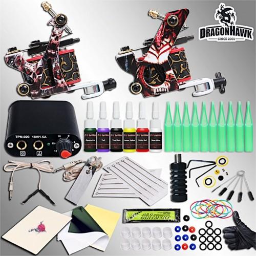 Dragonhawk тату набор с двумя тату машинками полная минимальная комплектация готовый к работе