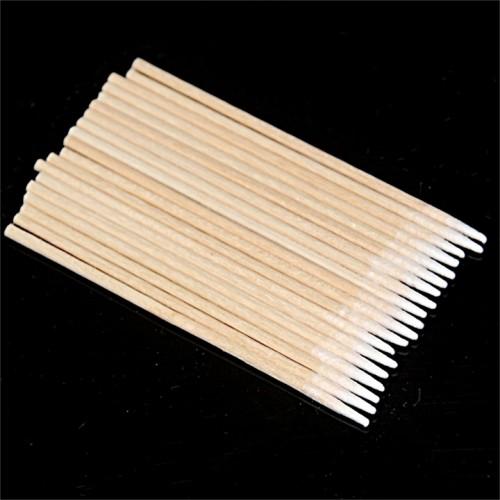 100 шт. Деревянные ватные палочки 7,5 мм. с тонким острием для косметолога
