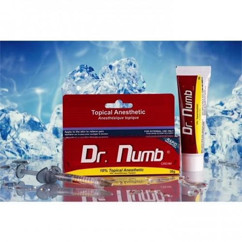 30 гр. Dr.Numb (Epinephrine) 10% Анестетик мощный обезболивающий крем для тату, для татуажа, для пирсинга, для депиляции, Канада