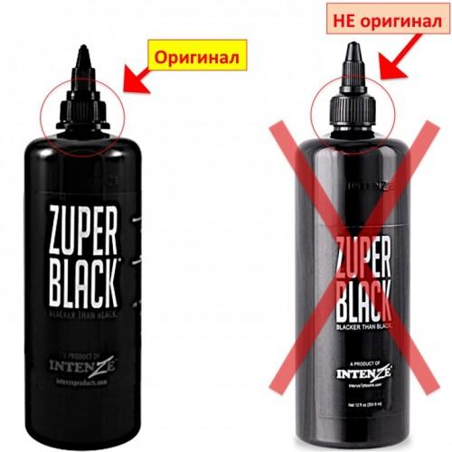 360 мл. Zuper Black Intenze супер черная краска для тату