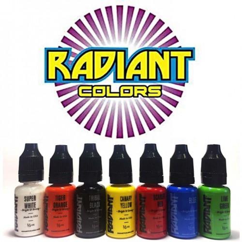 Radiant USA краска для тату 7 основных цветов по 15 мл.