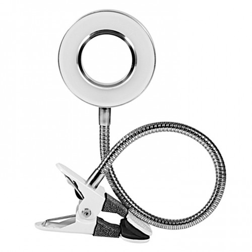 LED лампа кольцо алюминиевая USB