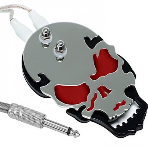 Педаль стальная для тату машинки - череп