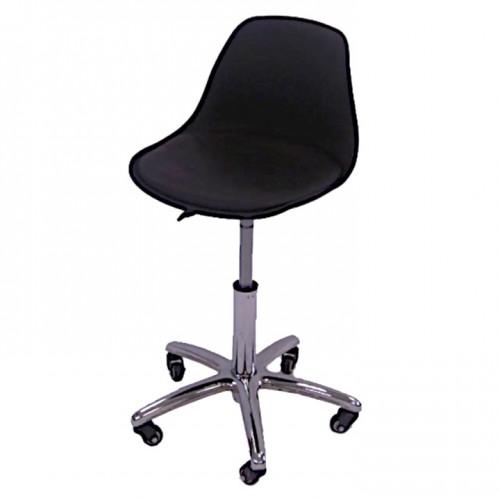 Стул - кресло со спинкой для мастера тату, татуажа, педикюра и других косметологических работ