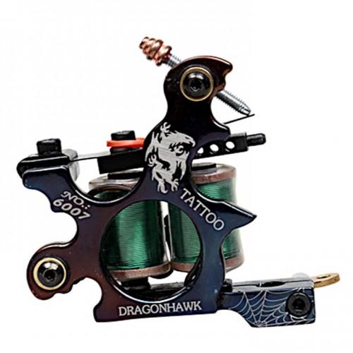 Тату набор Dragonhawk с контурной и растушевочной тату машинками с блоком питания на два выхода