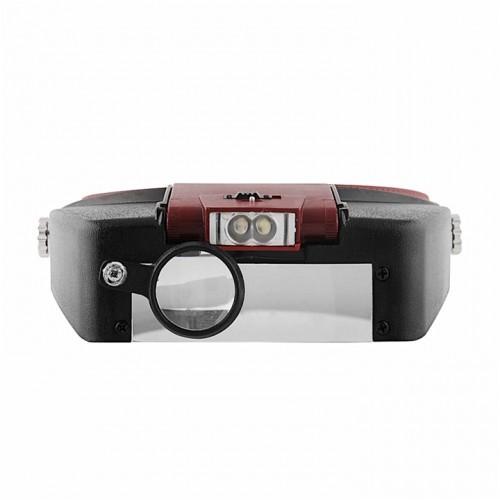 Маска-очки увеличительные 10Х с LED подсветкой для татуажа, для тату, для наращивания ресниц, для косметологии