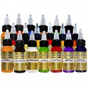 Intenze Mario Barth Gold Label USA краска для тату набор из 19 цветов по 30 мл.