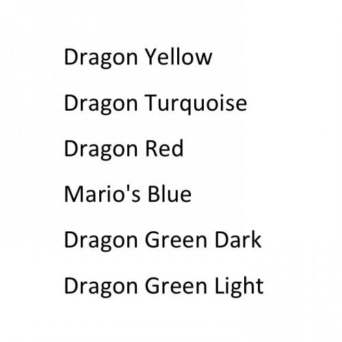 Intenze Japanese Dragon серия от Mario Barth USA краска для тату набор из 6 цветов по 30 мл.