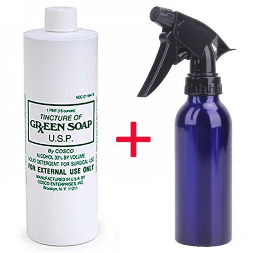Green Soap USA 500 мл. зелёное мыло для дезинфекции, для протирки, для перевода тату рисунков + распылитель в подарок!